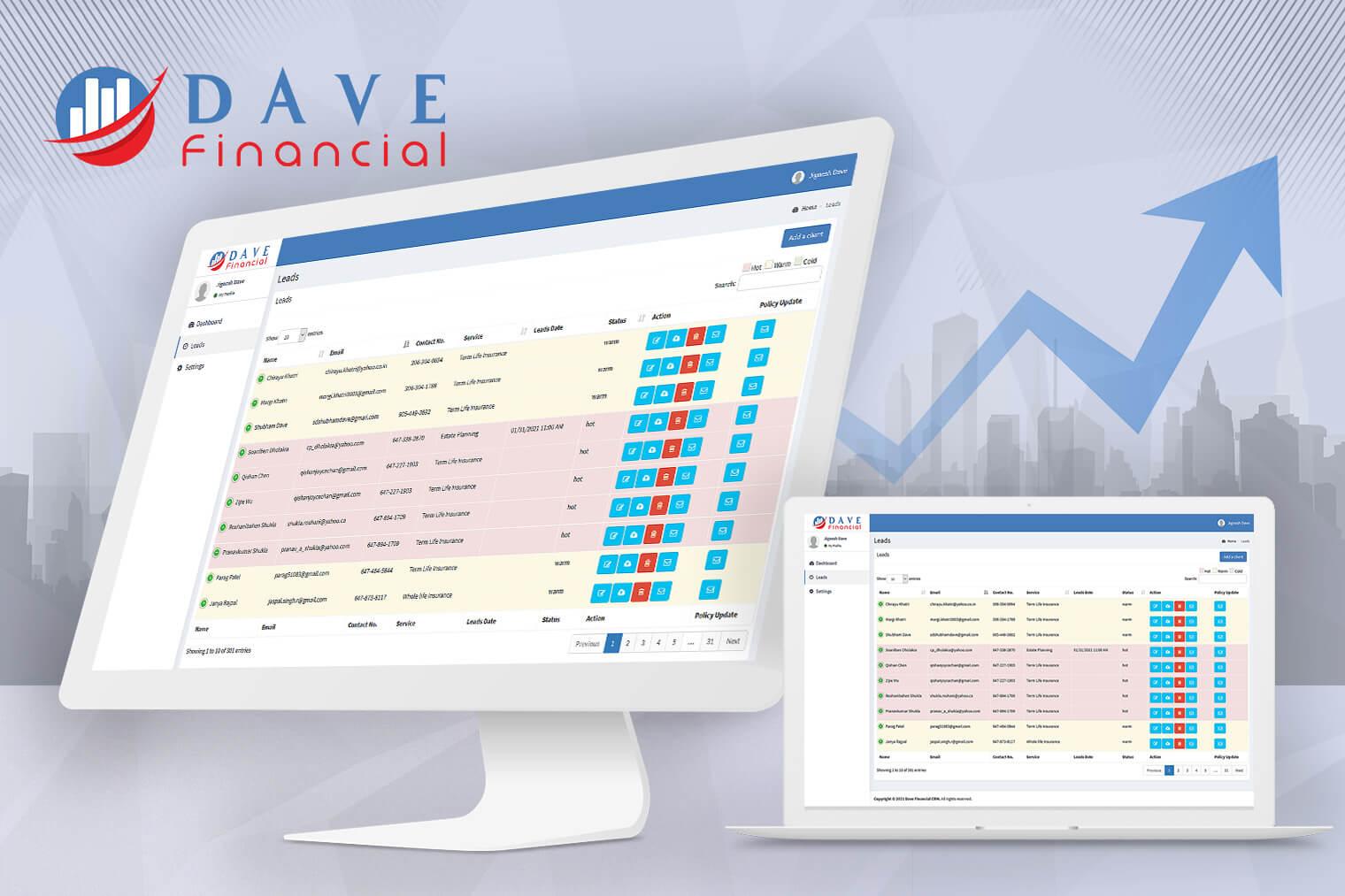 Dave Financial CRM